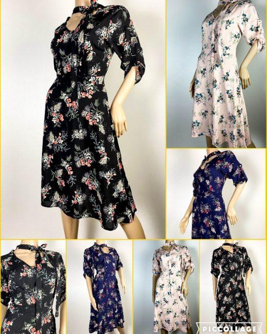 rochie damă cloș cu imprimeu floral,