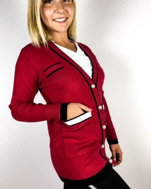jachetă roșu-vișiniu