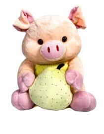jucărie din pluș purceluș roz cu pară,