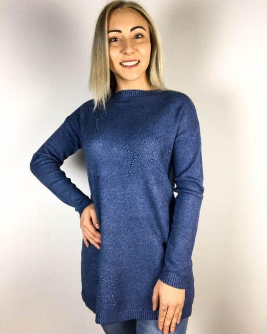 pulover allbastru,