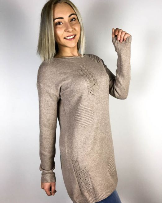 pulover beige,