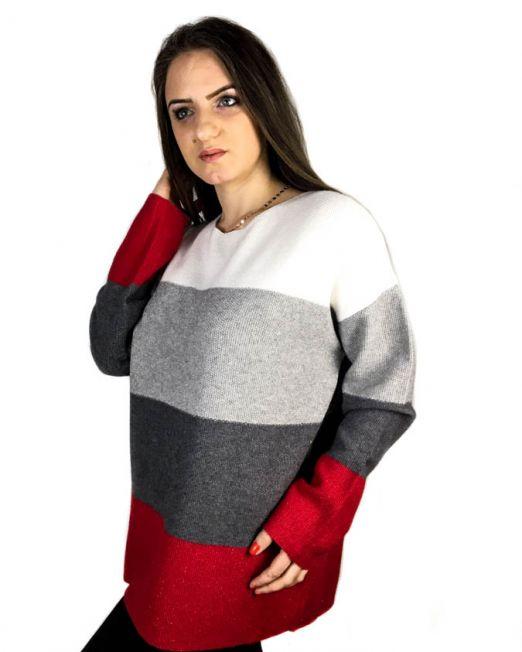 pulover alb,