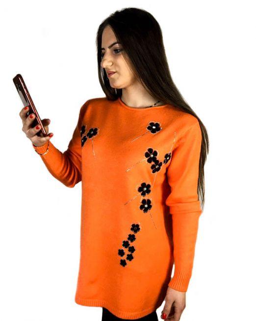 pulover orange,