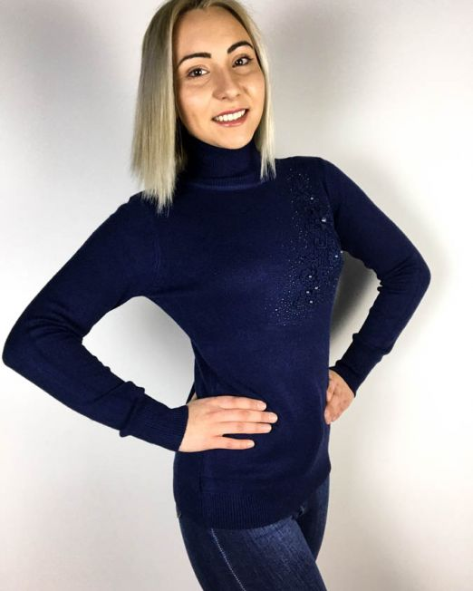 pulover bleumarin,