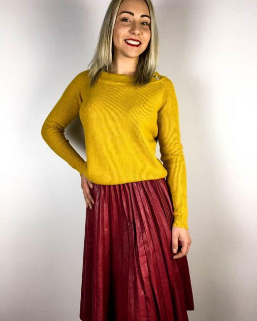 pulover galben muștar,