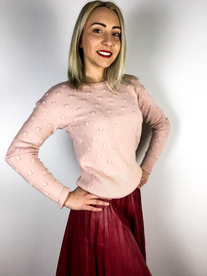 pulover roz,