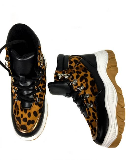 pantofi sport leopard