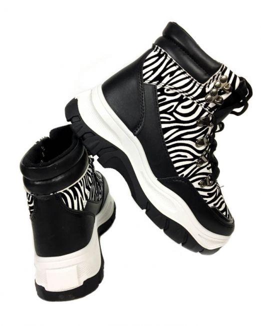 pantofi sport zebra