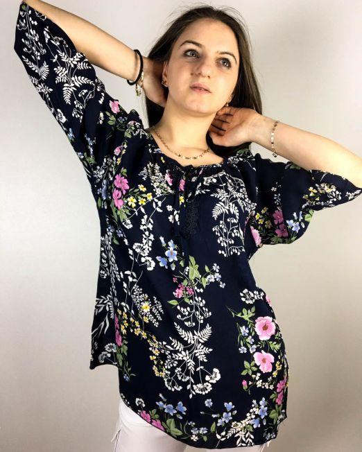 bluză bleumarin,