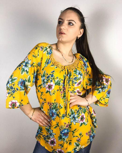 bluză galbenă,