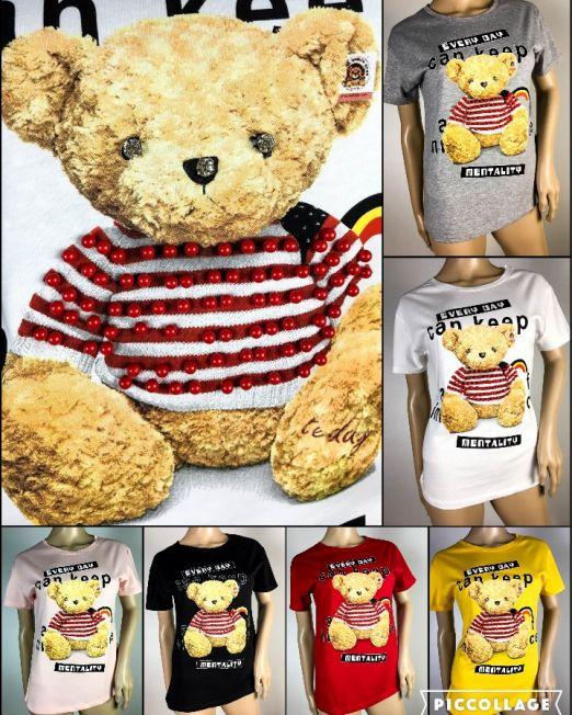 tricou damă cu ursuleț,