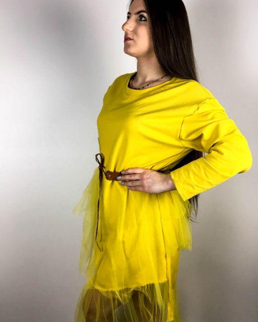 rochie galbenă,