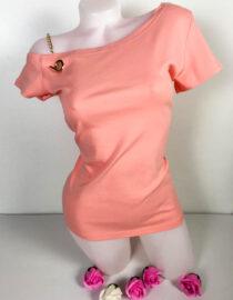 tricou damă roz bumbac,