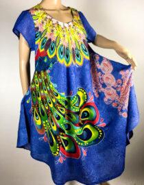 rochie damă vară albastră bumbac,