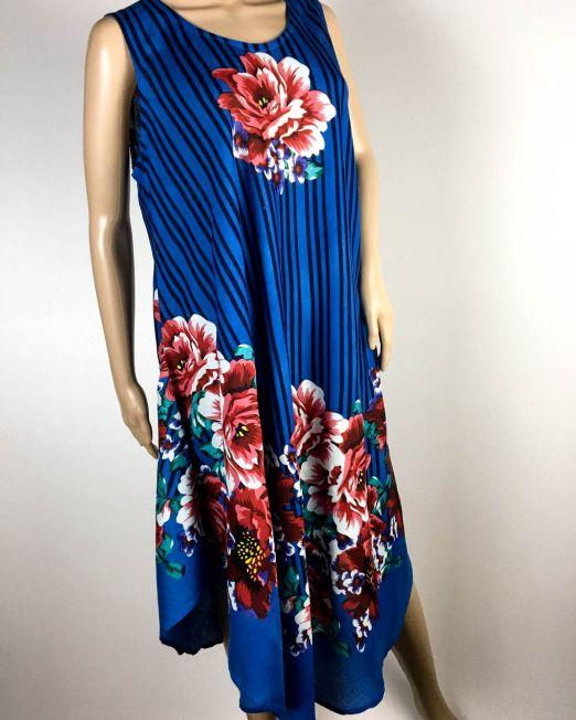 rochie damă vară albastră,