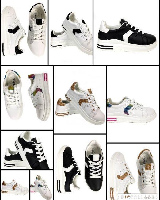 pantofi sport din imitaíe de piele cu închidere cu șiret