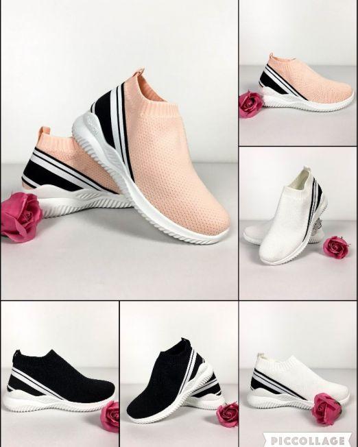 pantofi sport damă de vară tip botină din material textil cu aspect de plasă și cu talpă plată