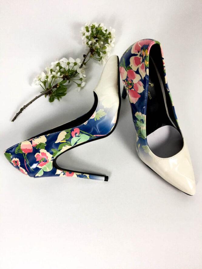 pantofi stiletto albaștri,