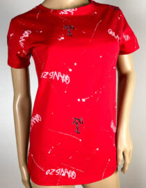 tricou damă roșu bumbac,