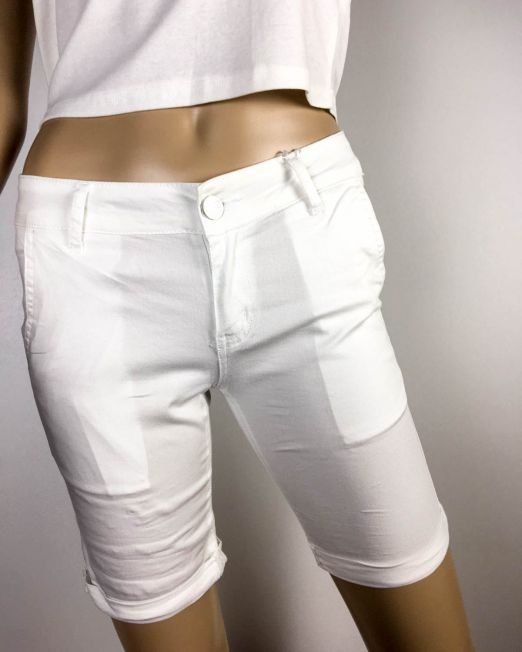 pantalon scurt alb damă,