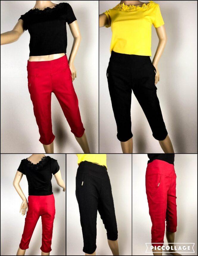 pantalon trei sferturi damă,