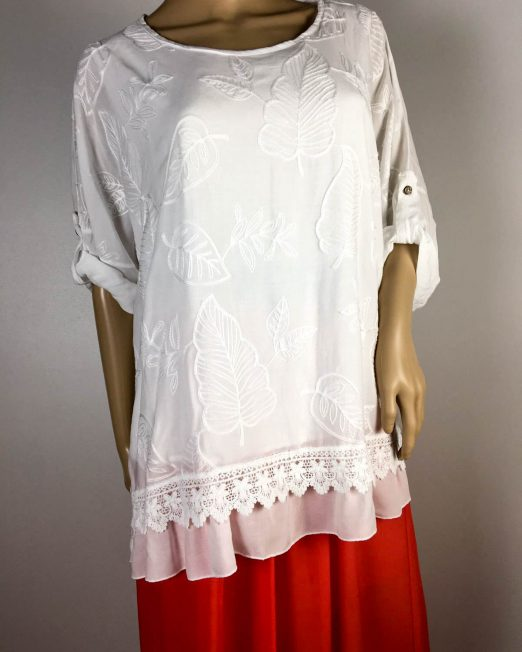 bluză albă damă vară brodată,