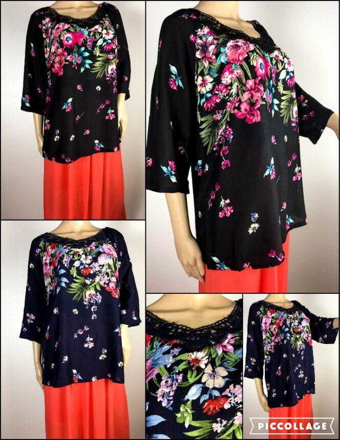 bluză damă vară cu flori,