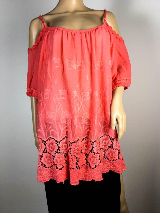 bluză corai damă vară cu dantelă,