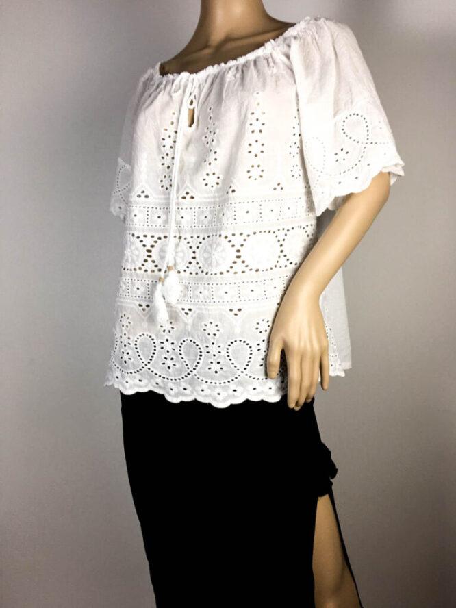 bluză albă damă vară tip ie,