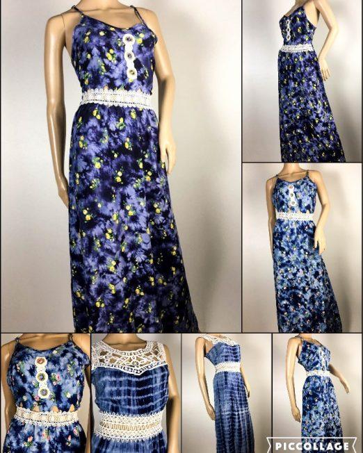 rochie damă vară cu flori și dantelă,