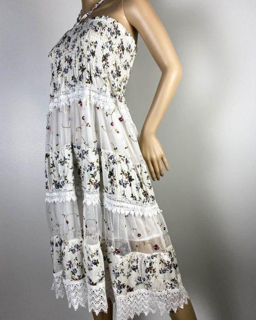 rochie fustă albă damă vară,