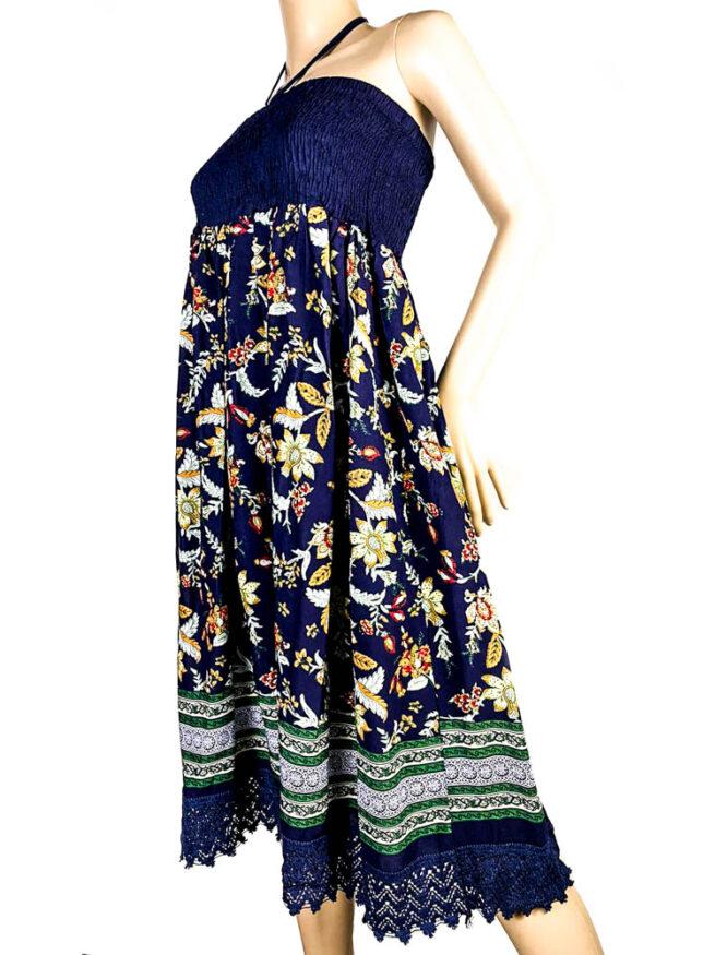 rochie fustă bleumarin damă vară,