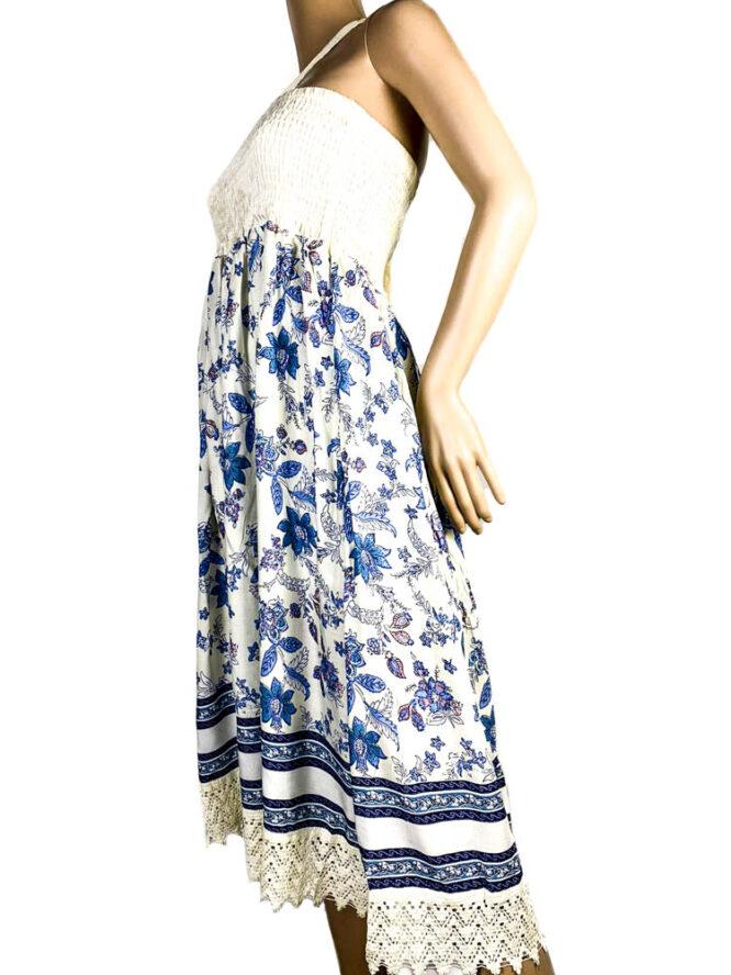 rochie fustă crem damă vară,
