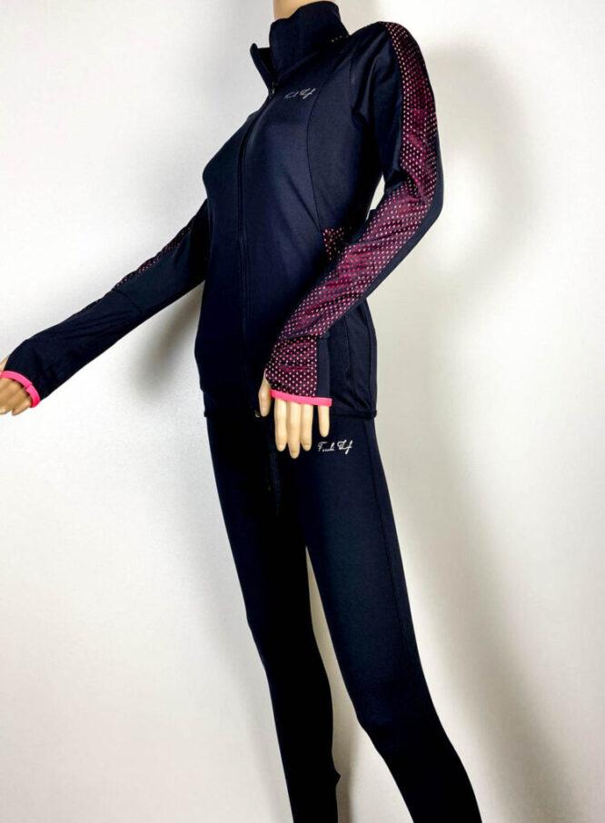 trening bleumarin damă cu pantalon colant,