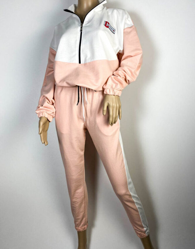 trening roz damă din bumbac,