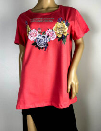 tricou damă corai cu flori,
