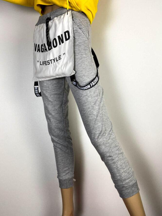 pantalon sport gri damă,