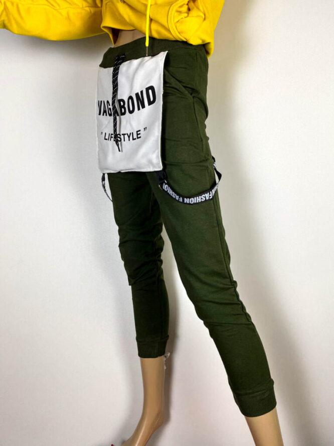 pantalon sport kaki damă,