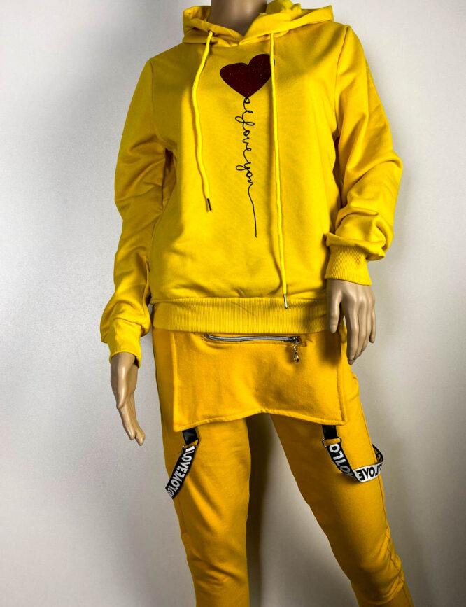 bluză sport galbenă damă,