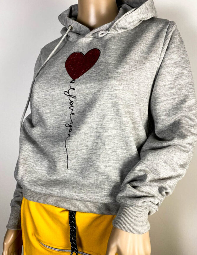 bluză sport gri damă,