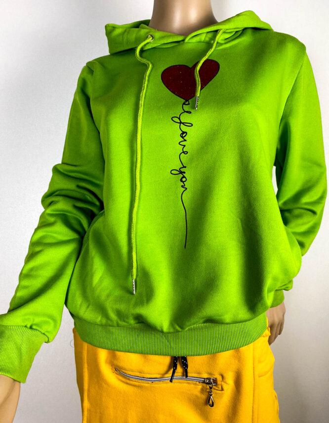 bluză sport verde damă,