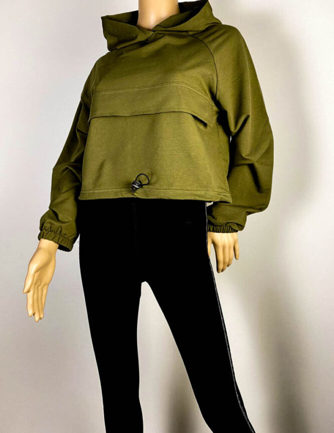 bluză sport kaki damă,