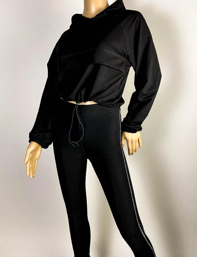 bluză sport neagră damă,