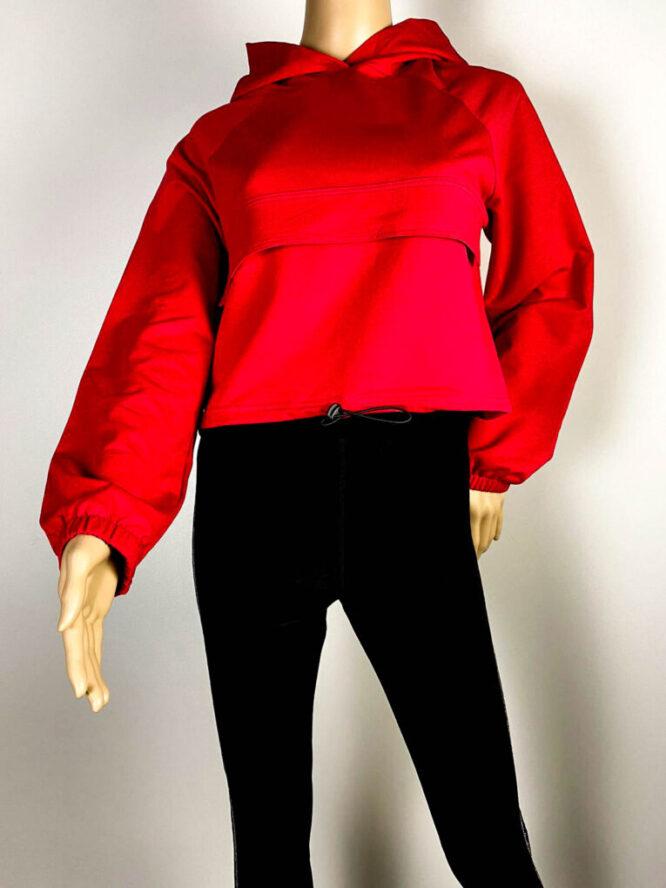 bluză sport roșie damă,