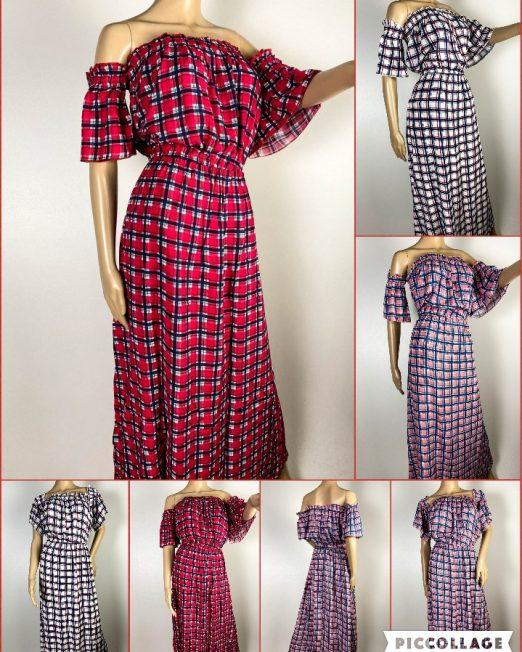 rochie damă vară în carouri,