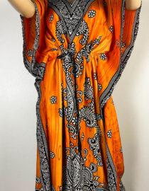 rochie orange damă plajă,
