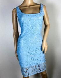 rochie bleu damă dantelă,