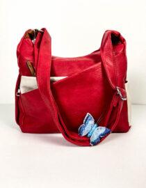 geantă roșie damă din piele ecologică,