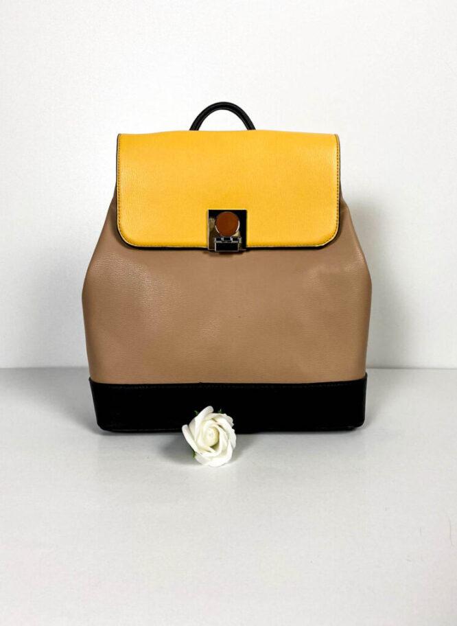rucsac beige damă elegant,