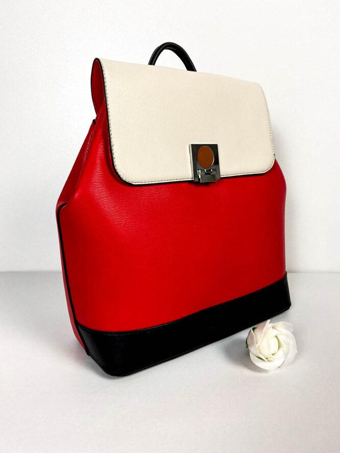 rucsac roșu damă elegant,